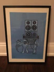 Dephect Art Print Framed 25/50 Singed