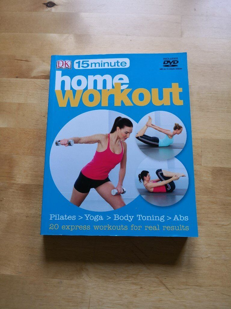 DK 15 minute home workout / Health book plus DVD. £2 Excellent condition