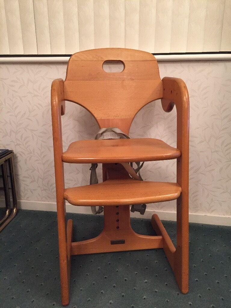 Mamas & Papas wooden highchair