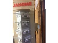 JANOME STAND FOR ALL FEETS WITH HOOKS ITEM IN PREFECT CONDITION