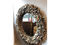 Driftwood Mirror ( 25 in diameter ) good condition , feel free to view .