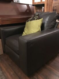 Lovely chocolate brown leather armchair in VGC. Selling due to moving into a smaller property.