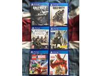 6 PS4 games (varying price)