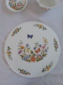 Vintage Aynsley 'Cottage Garden' bone china tea set.
