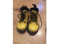 Doc marten boots Pink & Yellow