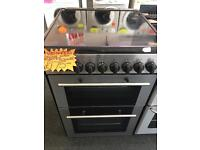 KENWOOD 60CM CEROMIC TOP ELECTRIC COOKER IN SILIVER