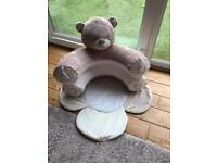 Teddy sit up support/play time ring