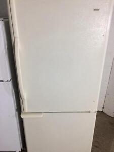 Kenmore Cream White Fridge With Bottom Freezer, FREE WARRANTY