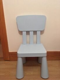 Child's blue chair