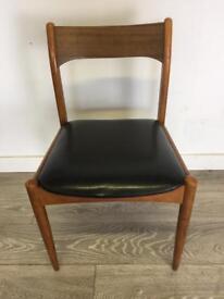 Mid century retro Danish style teak dining chair office chair