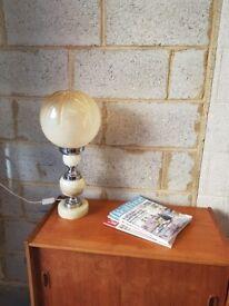 Vintage 1970's Mid century Marble Lamp