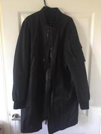 Men's long line bomber jacket