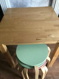 Table and stool x4