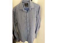 "MARKS SPENCER new mens shirt size Medium collar 15"" pure cotton Bargain !"
