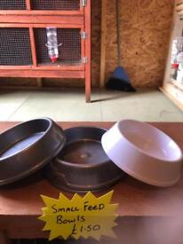 Small pet bowls