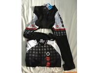 Unisex cycling top and trousers set- size large (2048)