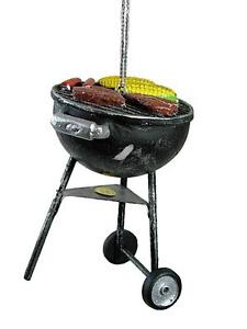 New Round Barbecue BBQ Steak Hotdog Corn Burger Grill Christmas Tree Ornament