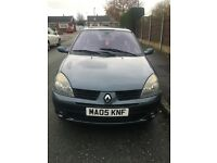Renault Clio Dynamique 2005, 1.2 litre, 3dr, 85,000 miles. Great runner. Brilliant first car.