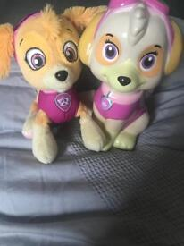 Paw patrol sky bank and soft toy