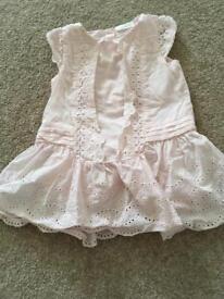 Next 0-3 month pale pink dress