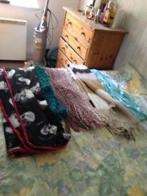 Scarves and blankets