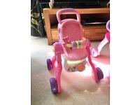 Vtech Little Love Musical Baby Pram - Pink