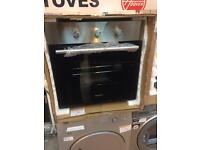 BRAND NEW Silver and black Montpellier electric built in oven #3771