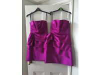 2 matching bridesmaid dresses
