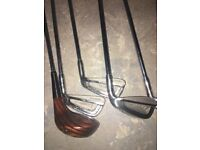 Two set of golf clubs and accessories