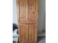 pine interior doors x 2