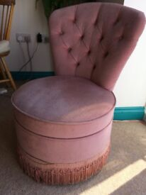 Vintage Velour Boudoir Chair