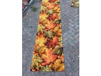 Retro maple leaf carpet