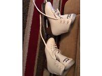 Ladies white ice skates size 42