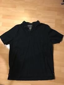 White Stuff 1/4 button short sleeved shirt