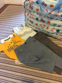 HUGE bag of baby boys clothes 6-9 months all excellent condition