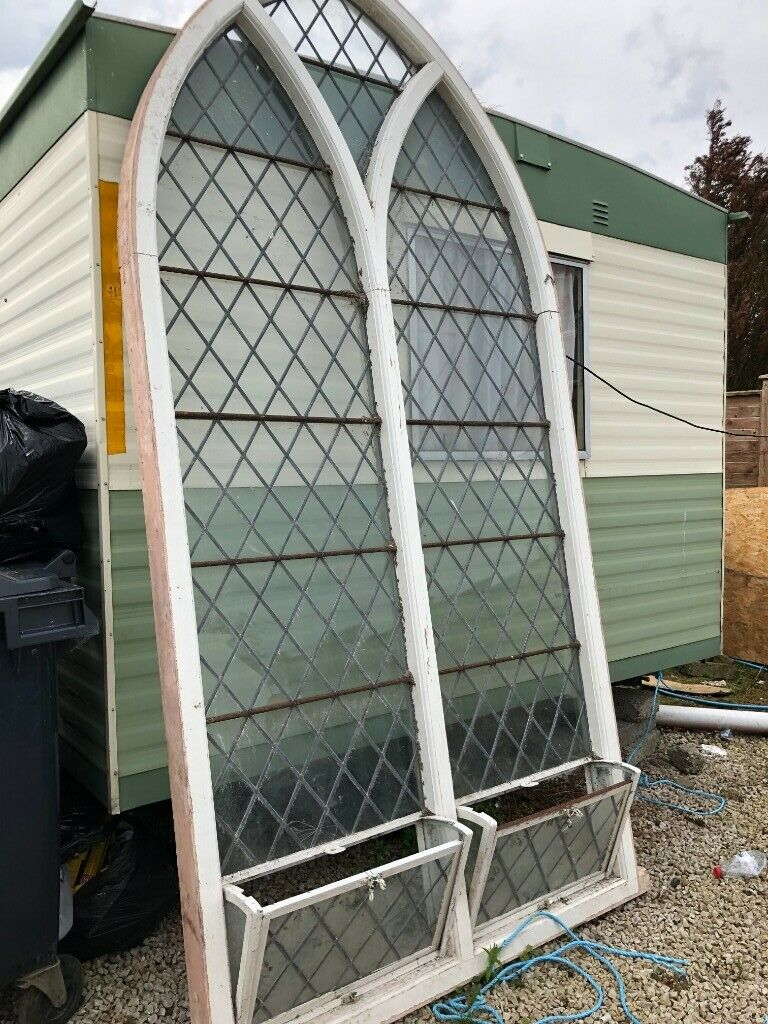 Extra large arch shaped leaded glass window | in Castlerock, County  Londonderry | Gumtree