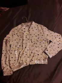 BRAND NEW WITH TAGS WHITE STAR BOMBER JACKET