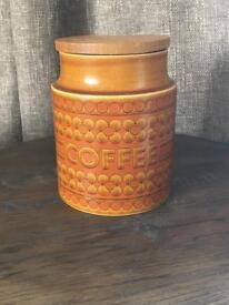 Vintage Coffee jar in 'Saffron' pattern by Hornsea
