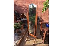 Edwardian mahogany swing mirror