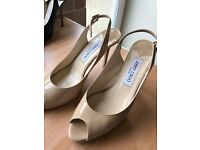 Designer jimmy Choo nude colour shoes size 38.5 immaculate condition.