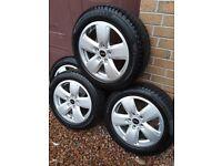 "Set of 4 Mini 16"" Alloys with Run Flat Winter Tyres"