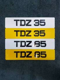 Matching pair of number plates for sale