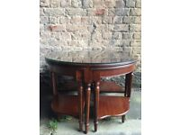 Reproduction Glazed Nest of Five Tables. Unique Piece very attractive. Grab a bargain !