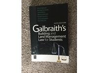 Book: Galbraith's Building and Land Management Law for Students