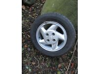 FORD SIERRA, ESCORT 5 SPOKE ALLOY WHEELS (ESCORT CABRIOLET SIERRA) WITH PIRELLI P600 TYRES