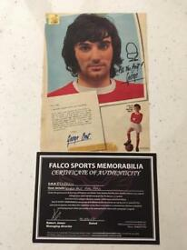 George Best Authentic 1970s Autograph