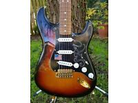 "FENDER USA "" STEVE RAY VAUGHAN "" Stratocaster AS NEW Superb Example Stunnng Condition"