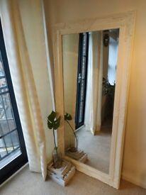 """Ornate Large Full Length Lounge Bedroom Leaner Mirror White 66"""" x 32"""""""