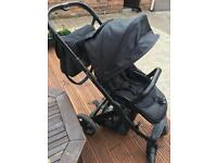 Oyster 2in1 and free car seat Graco 3in1 footmuff changing bag extra colour pack for carrycot