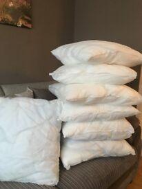 7 pillows good condition.